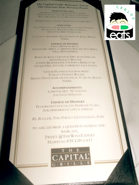 The Generous Pour Event @ The Capital Grille – #TCGPour11